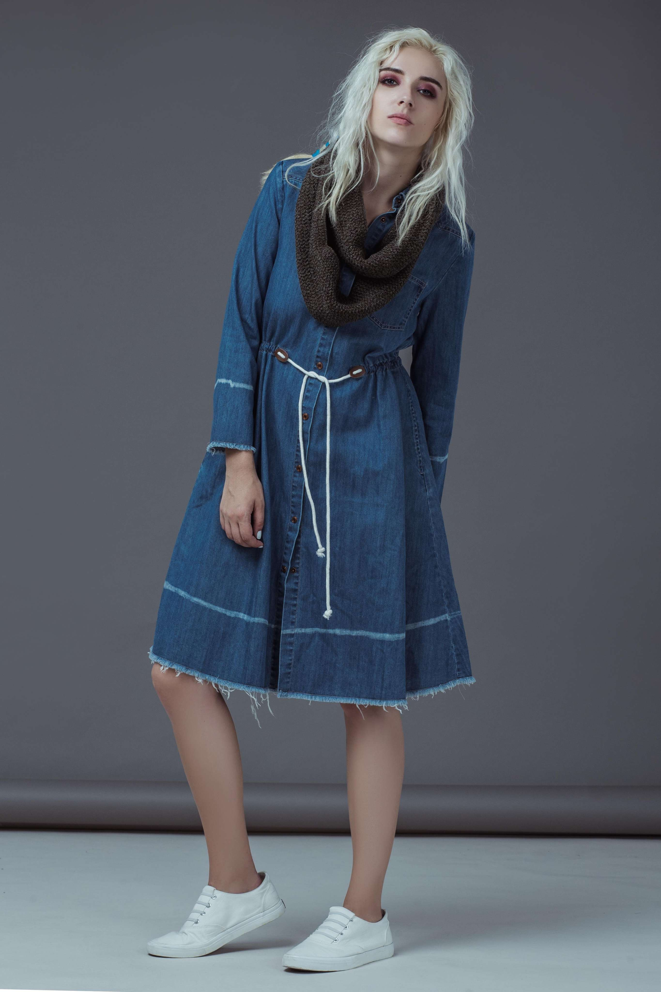 JW DENIM JACKET DRESS